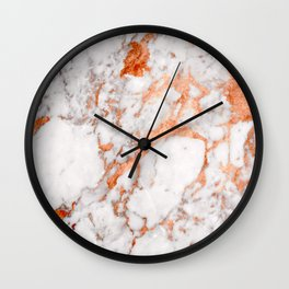 Copper Marble 2 Wall Clock