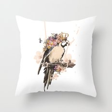 Pearly Parrot  Throw Pillow