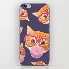Bubblegum Cat iPhone Skin