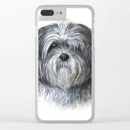 Dog 138 Shih Tzu Clear iPhone Case