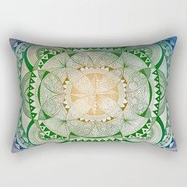 Metta Mandala, Loving Kindness Meditation Rectangular Pillow
