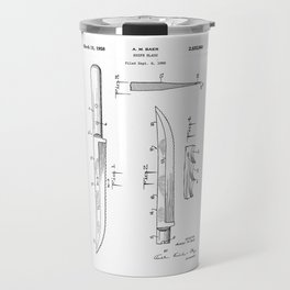 patent art Baer Knife Blade 1956 Travel Mug