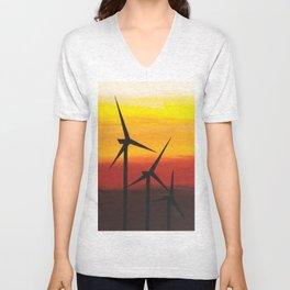 Two Windmills Unisex V-Neck