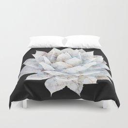 Agave White Marble Duvet Cover