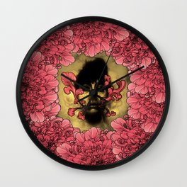 I Am Serius With Flowers Wall Clock