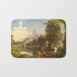 The Voyage of Life Youth Painting by Thomas Cole Bath Mat