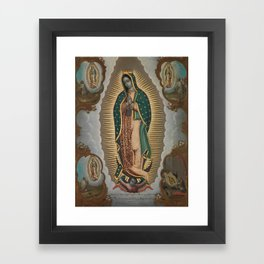 The Virgin of Guadalupe with the Four Apparitions Framed Art Print