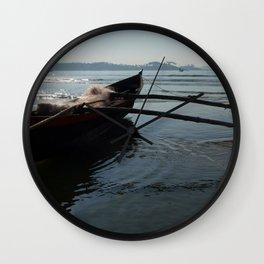 Fishing Boat Loaded with Nets Palolem Wall Clock