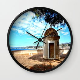 Historic Castle Hill (Colline du Chateau) In Nice Wall Clock