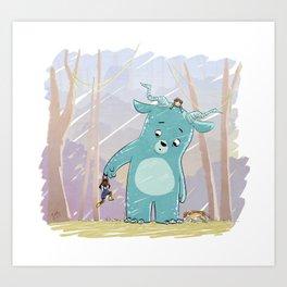Friendly Creature Art Print