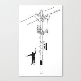 Tokyo Electric Pole Canvas Print