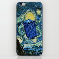 Tardis Dr. Who Starry Night iPhone & iPod Skin