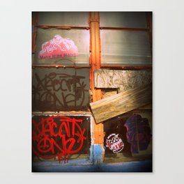 The bored Window Canvas Print