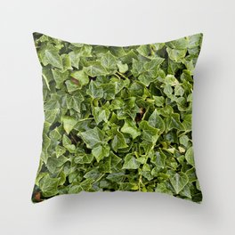 Green Leafs Throw Pillow