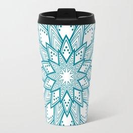 Turquoise Blue Mandala Travel Mug