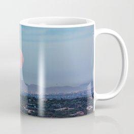 Moon Over Tucson - Full Moon Sets Early Morning in Tucson Arizona Coffee Mug