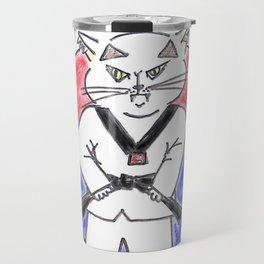 Taekwondo master cat Travel Mug