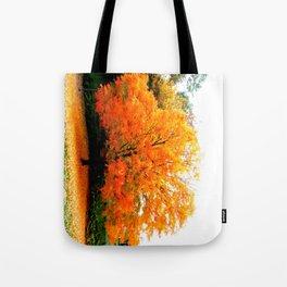 Firey Fall Tree Tote Bag