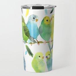 A Chatter of Budgerigars Travel Mug