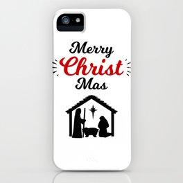 Christian Christmas Merry Christ Christmas Jesus Nativity iPhone Case