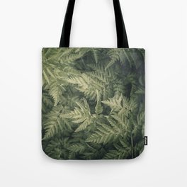 SHADED GREEN FERN Tote Bag