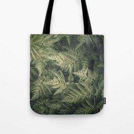 SHADED GREEN FERN Tote Bag
