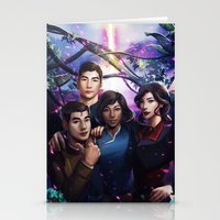 the legend of korra Stationery Cards featuring The Legend Of Korra by Meder Taab