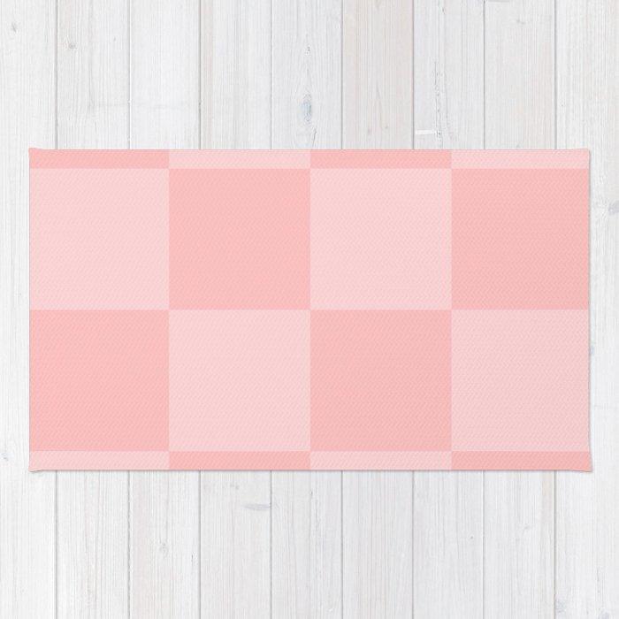 Pink 2 Tone Pattern Rug