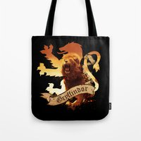 gryffindor Tote Bags featuring Gryffindor by Markusian