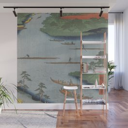Summer River Mouth Ukiyo-e Japanese Art Wall Mural