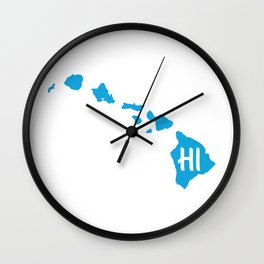 HI From Hawaiian Islands Wall Clock