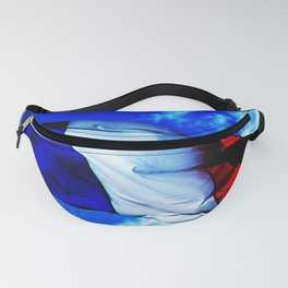 French flag blowing in the wind Fanny Pack