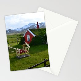 Lindarbakki Turf House in Borgarfjörður-Eystri in East-Iceland Stationery Cards