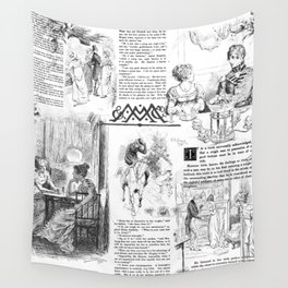 Pride and Prejudice - Pages Wall Tapestry