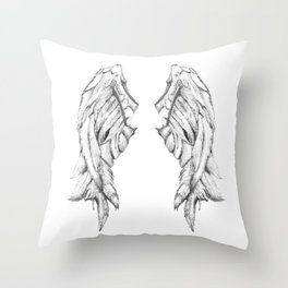 One Winged Angel Throw Pillow