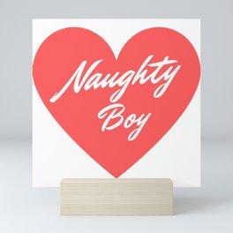 Naughty Boy Mini Art Print