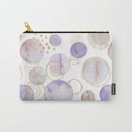 Watercolour Circles | Lavender, Gold & Lilac Palette Carry-All Pouch