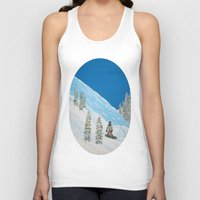 snowboarding Tank Tops featuring Snowboarding by N_T_STEELART