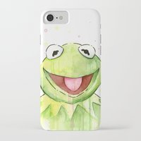 kermit iPhone & iPod Cases featuring Kermit Portrait by Olechka