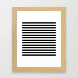 Modern Black White Stripes Monochrome Pattern Framed Art Print
