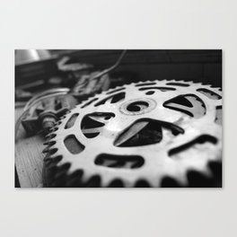 Bike Crank Canvas Print
