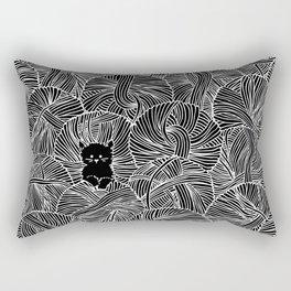 Yarn Ball Pit in Black Rectangular Pillow