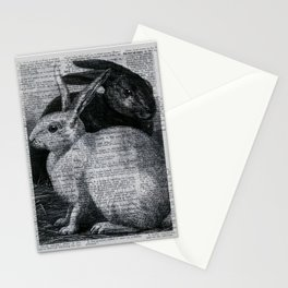 Dictionary Bunnies by Kathy Morton Stanion Stationery Cards