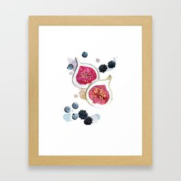 Figs and Berries Framed Art Print