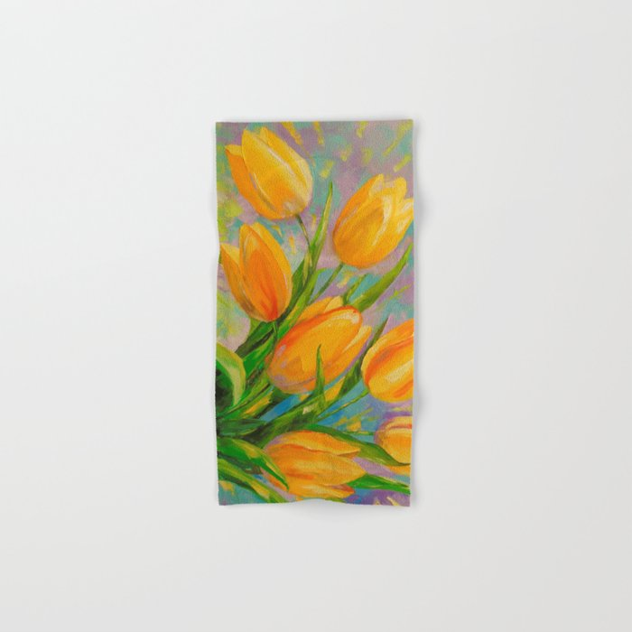 A bouquet of tulips Hand & Bath Towel