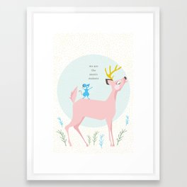 Deer and Mouse Singing Framed Art Print