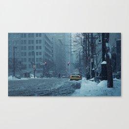 Taxi Scene Canvas Print