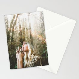 Woman In Forest Stationery Cards