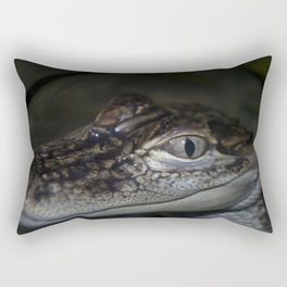 Baby Gator Rectangular Pillow