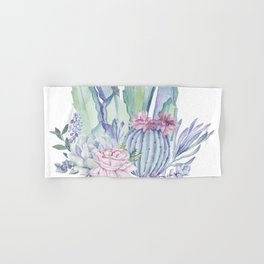 Desert Love Cactus + Succulents Hand & Bath Towel